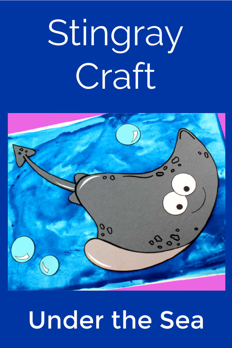 Stingray Craft with Free Template