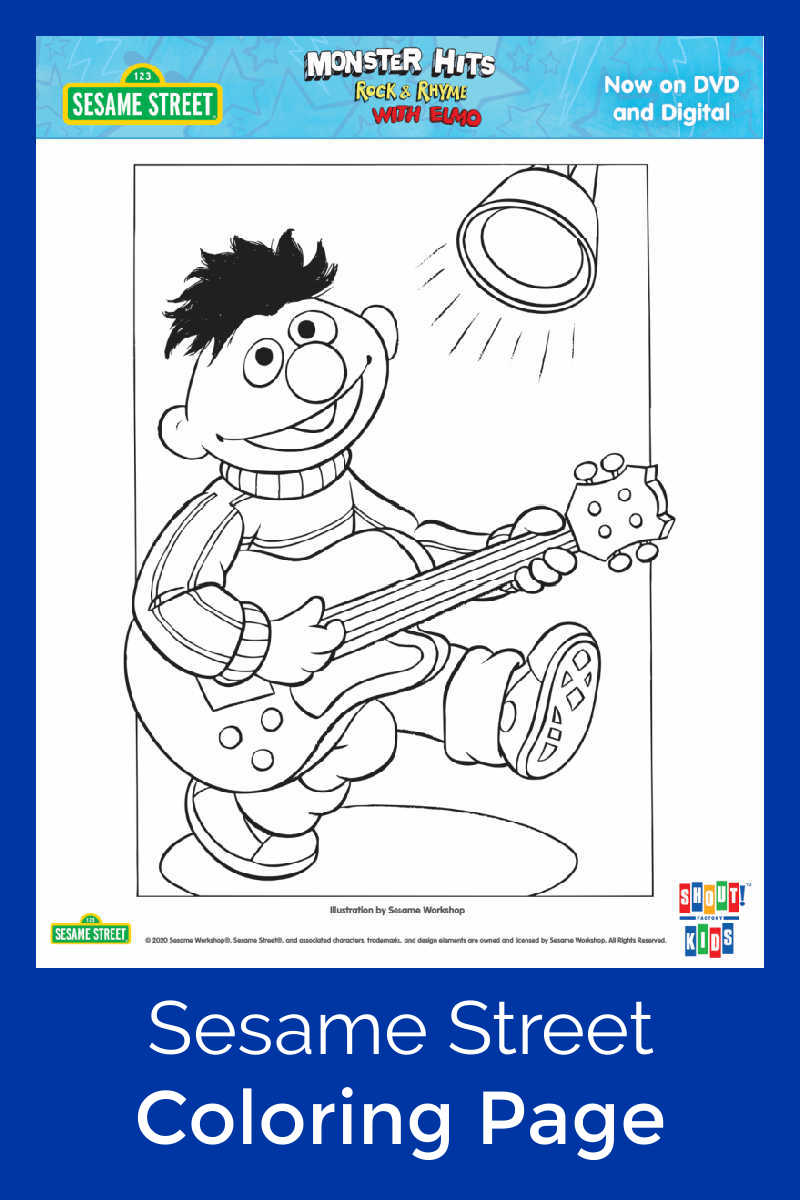 pin printable ernie coloring page