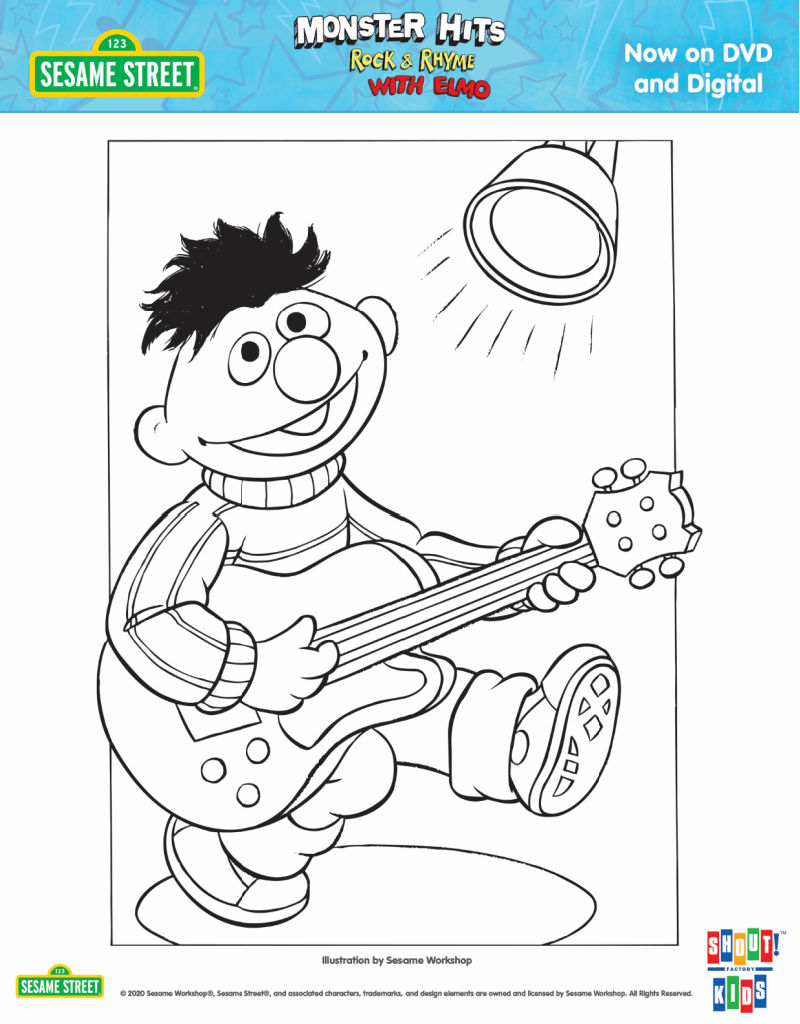 Free Printable Sesame Street Ernie Coloring Page