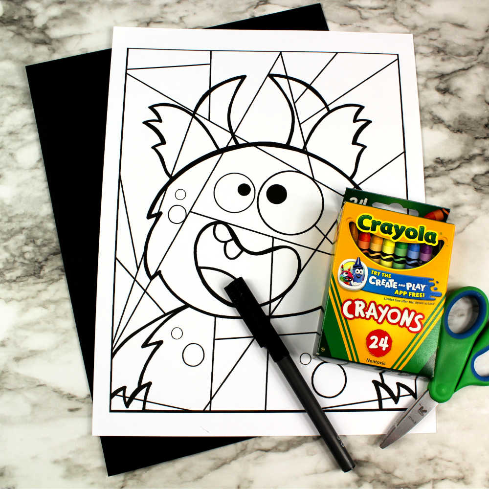 supplies goofy monster line art