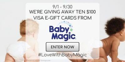 visa gift card giveaway baby magic