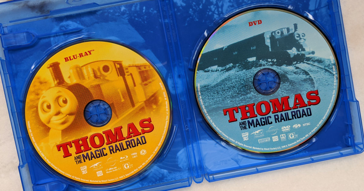 blu-ray and dvd thomas and the magic railroad