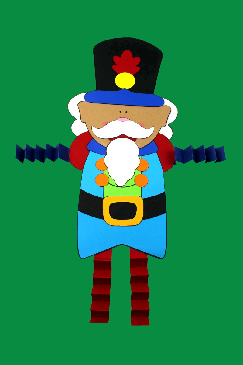 Nutcracker Craft with free printable template #NutcrackerCraft #FreePrintable #ChristmasCraft