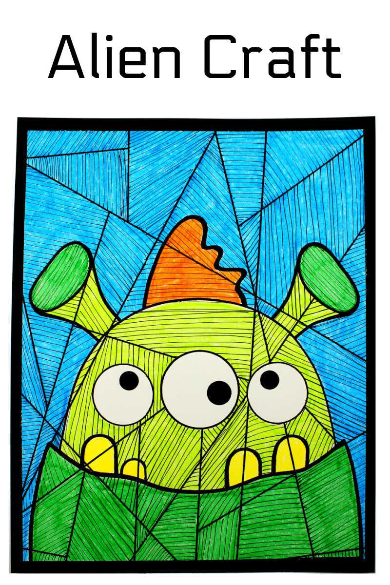 Free Printable Alien Craft for Kids
