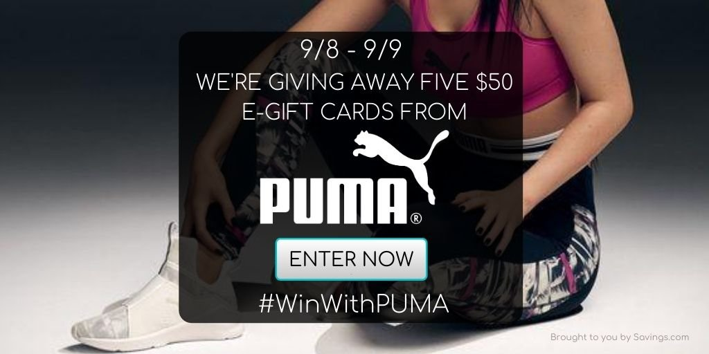 Visa Gift Card Giveaway from Puma