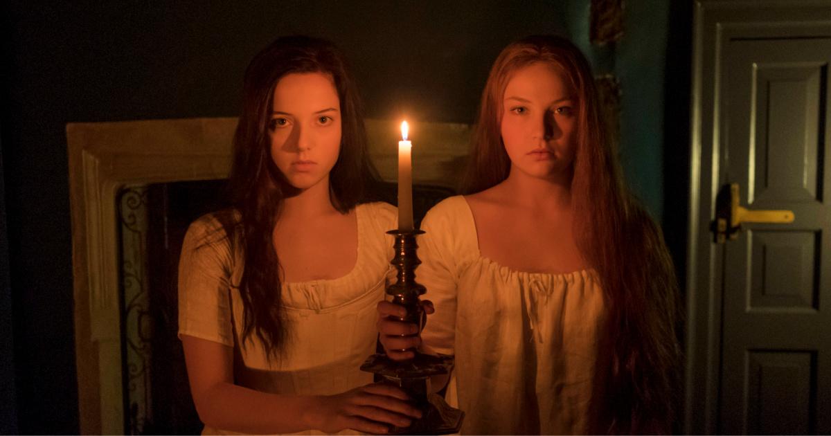 spooky girls in gothic vampire scene