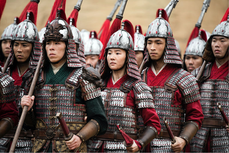 chinese soldiers in mulan movie