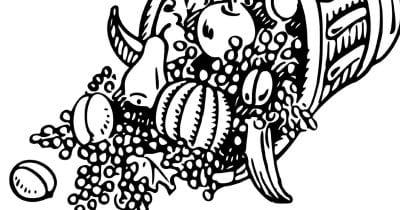 cornucopia coloring page