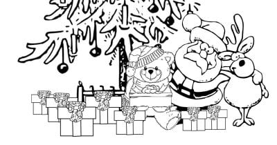 family time christmas coloring page