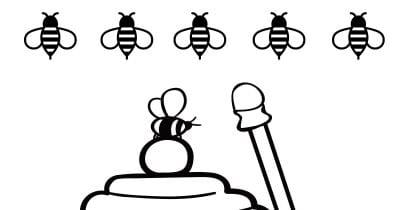 feature honey pot coloring page
