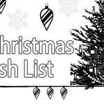 Printable Christmas Wish List Coloring Page