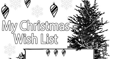 feature my christmas wish list coloring page