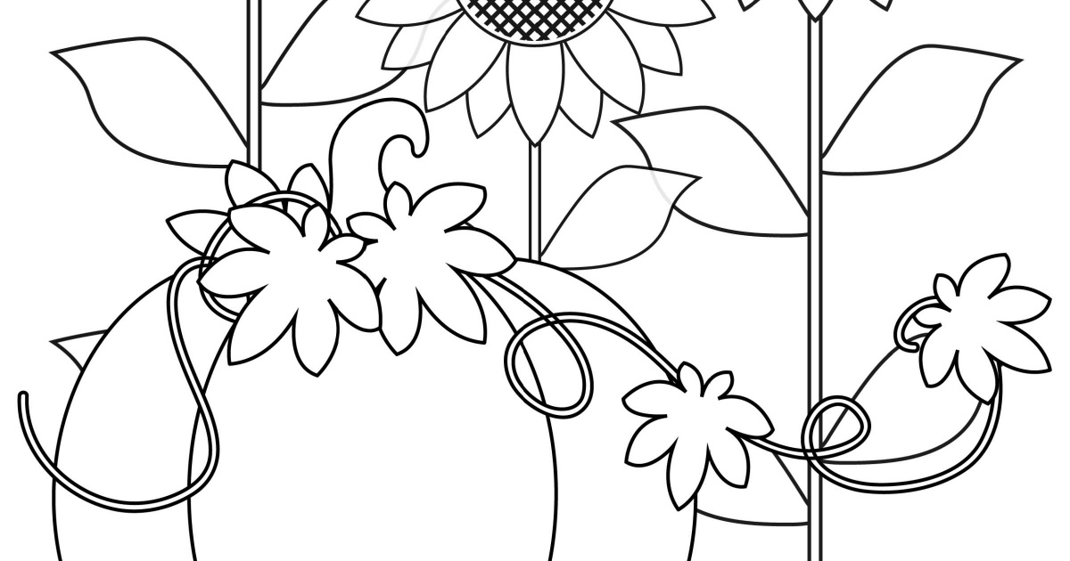 Pumpkin Harvest Coloring Page | Mama Likes This
