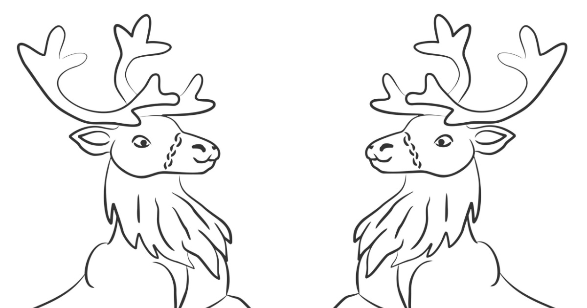 feature reindeer games coloring page