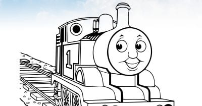 feature thomas coloring page