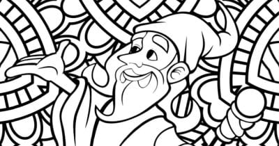 feature wizard coloring page