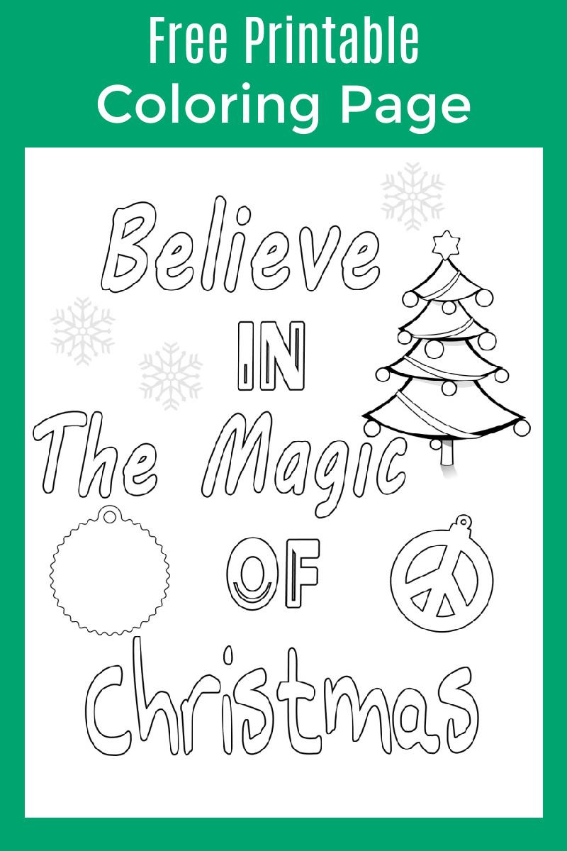 Christmas Magic Coloring Page #FreePrintable