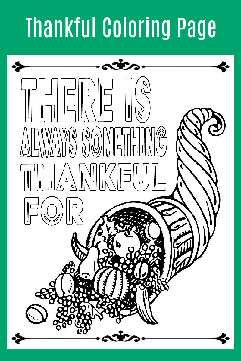 Thankful Coloring Page for Thanksgiving #thanksgivingprintable #thanksgiving #thankful