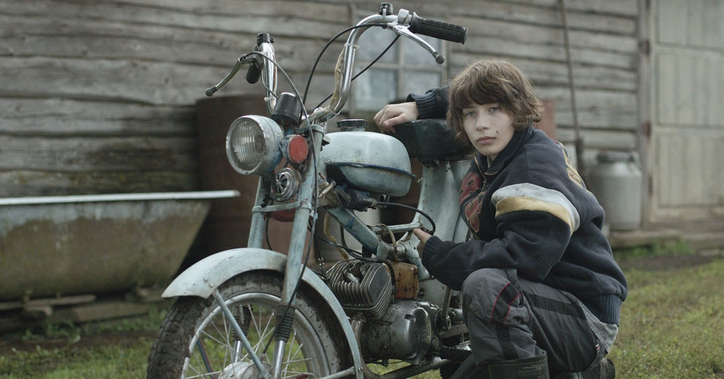 mellow mud boy with motorcycle