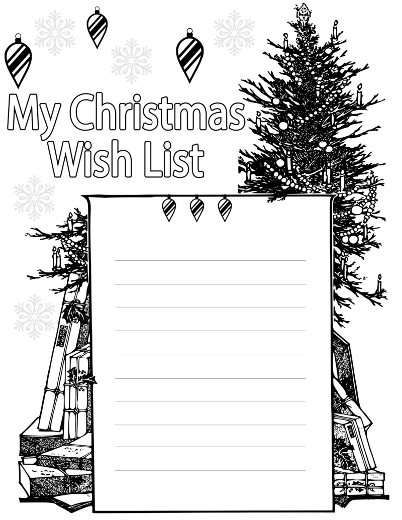 my christmas wish list coloring page