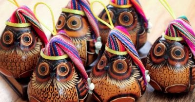 owl holiday ornaments from novica