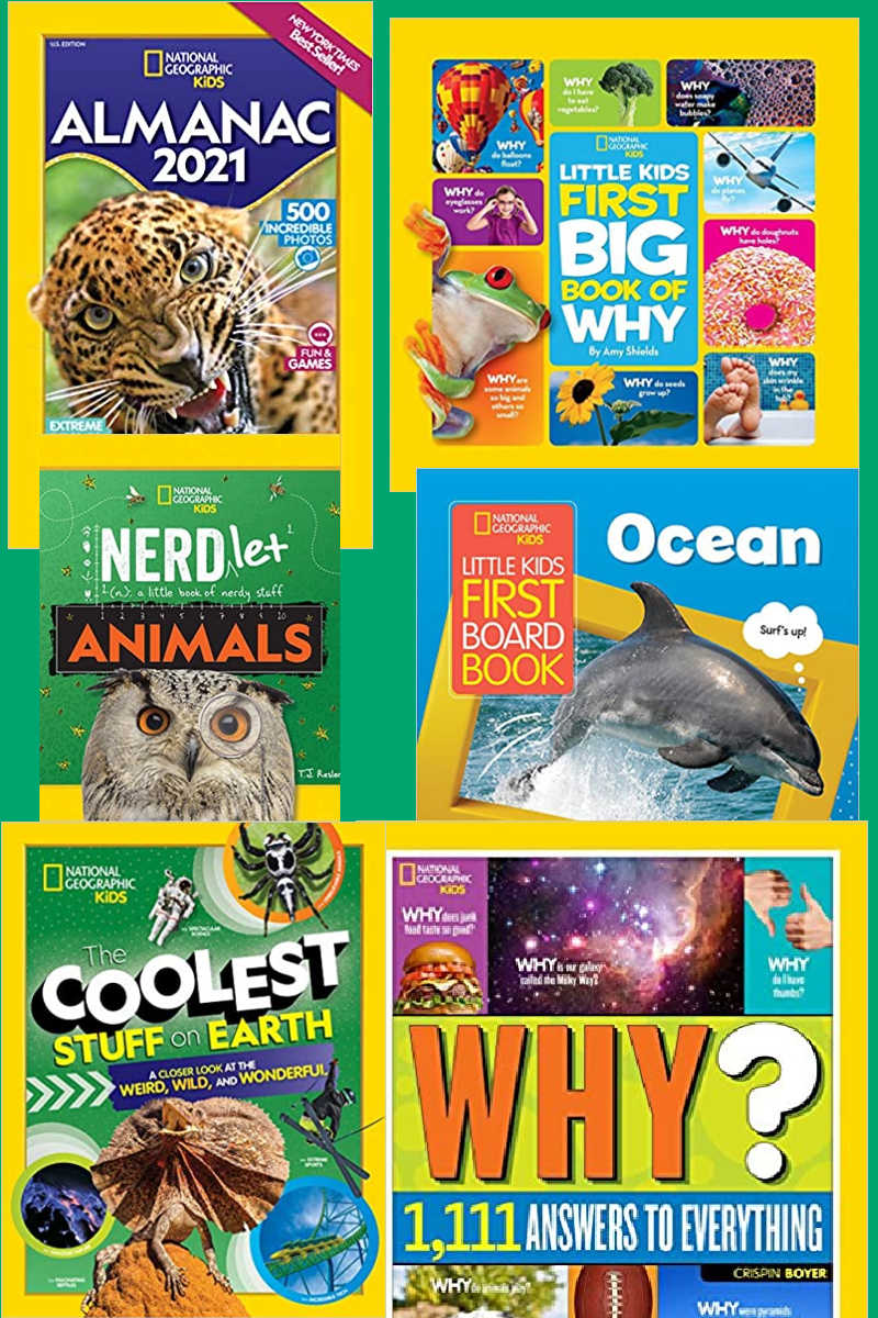 Books for Curious Kids from National Geographic