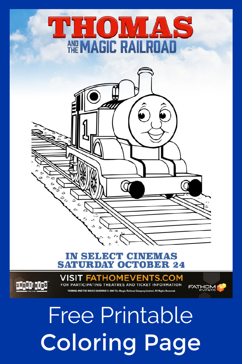 Free Printable Thomas and The Magic Railroad Coloring Page