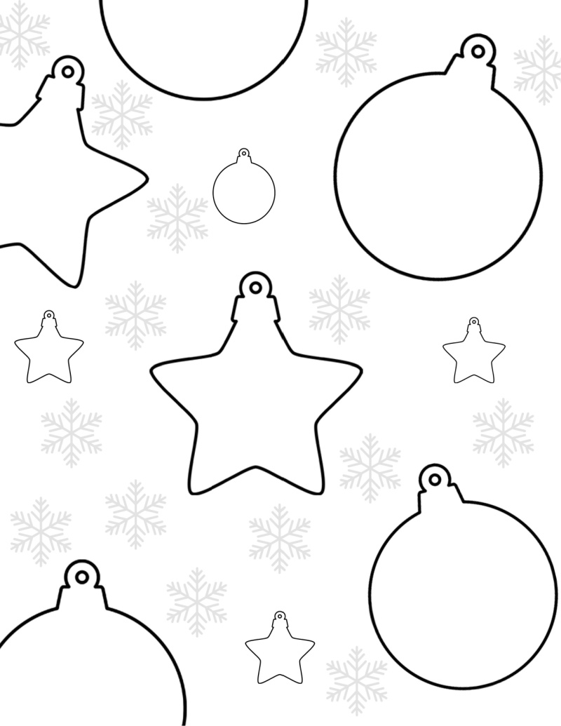 Christmas Ornaments Coloring Page Mama Likes This