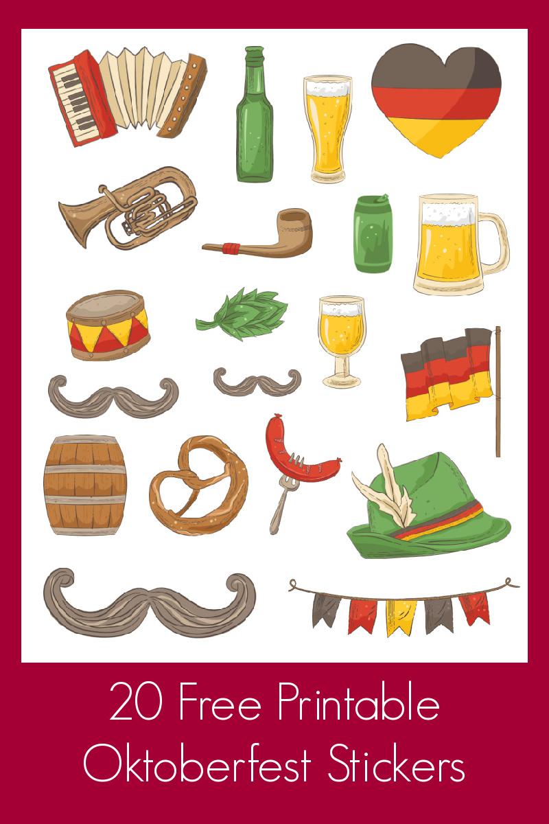 20 Free Printable Oktoberfest Stickers