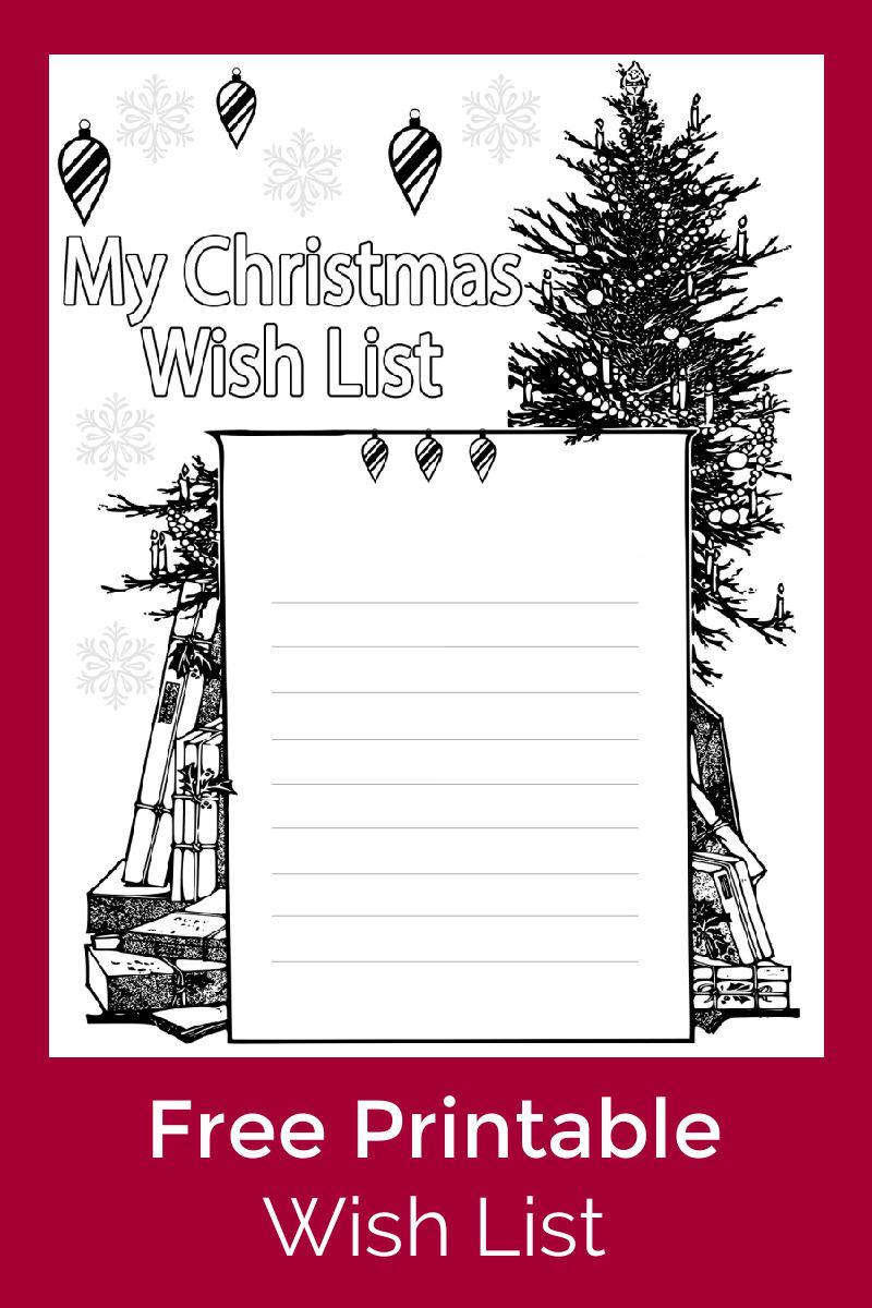 Christmas Wish List Coloring Page #FreePrintable