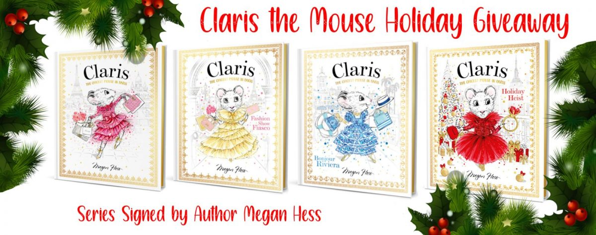 Claris: The Chicest Mouse in Paris book set by Megan Hess