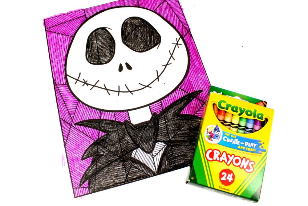 colored jack line art
