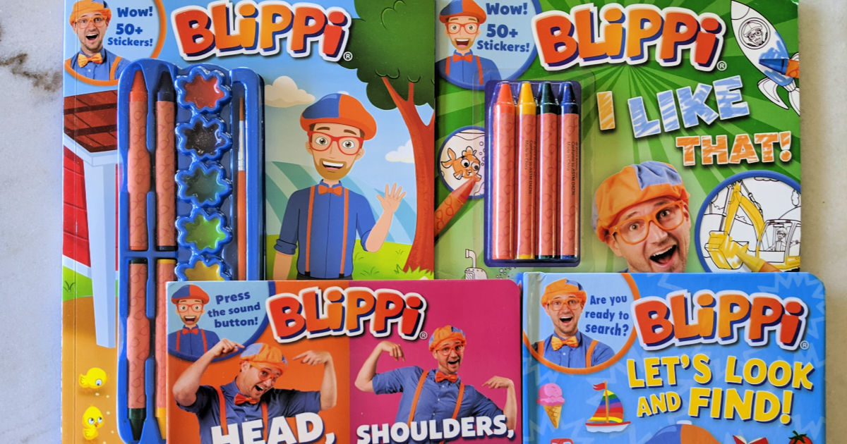 activity books featuring blippi