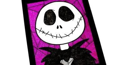 feature jack skellington line art coloring page
