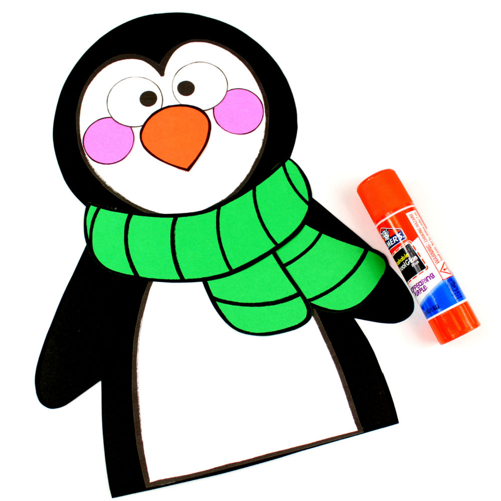glue and penguin craft