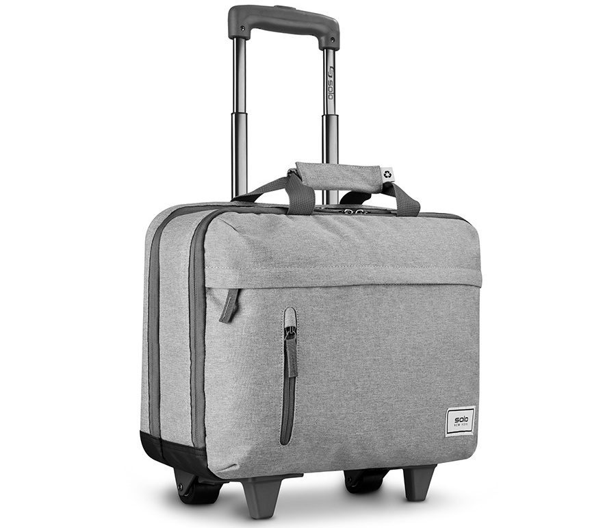gray solo rolling case