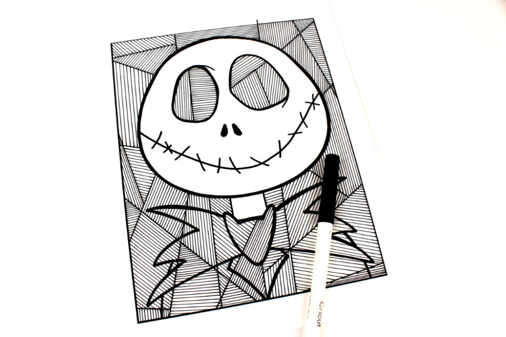 jack line art coloring page