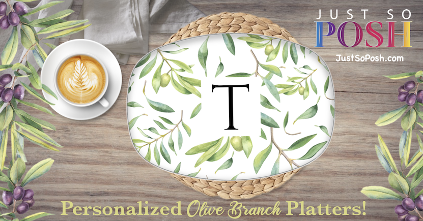 personalized just so posh platter