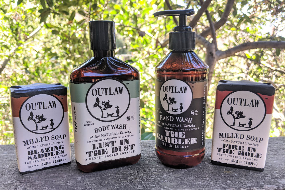 manly outlaw toiletries.