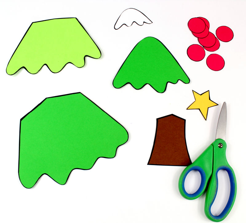 pieces for christmas tree craft