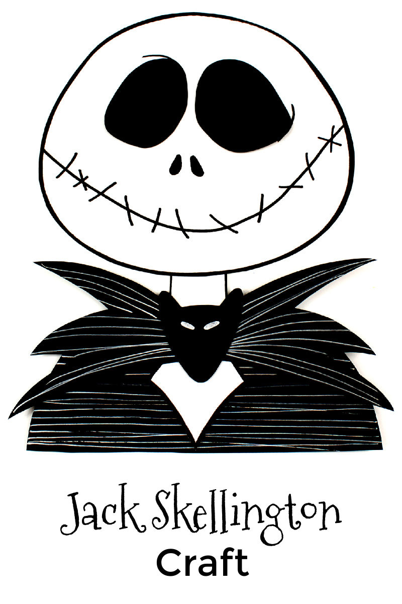 Paper Jack Skellington Nightmare Before Christmas Craft with Free Template