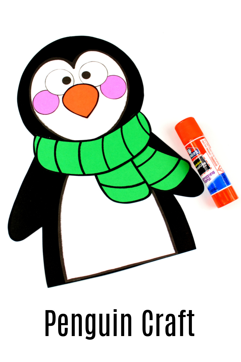 Paper Penguin Craft with Free Template
