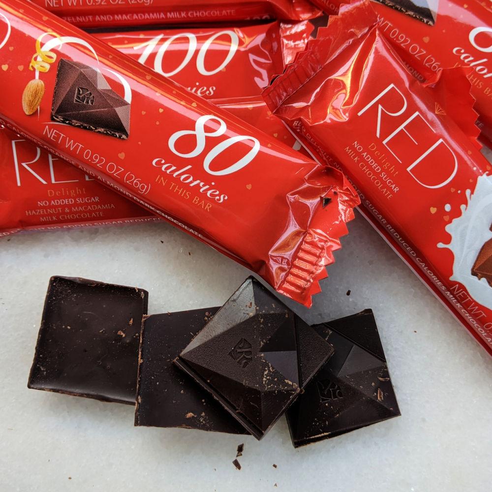 no sugar added red chocolate