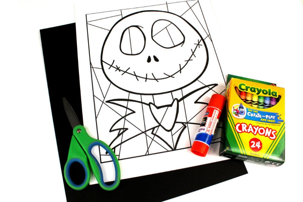 supplies for jack skellington line art
