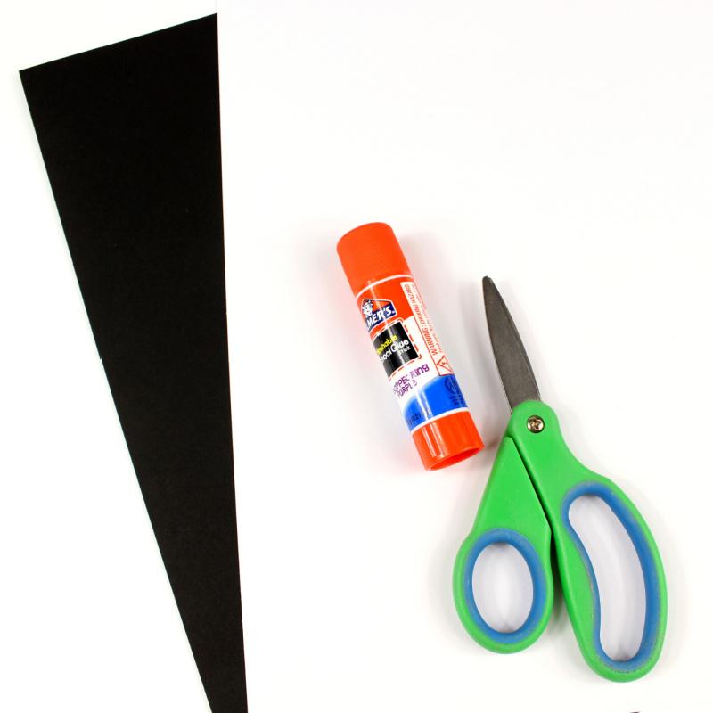 supplies for paper jack skellington craft