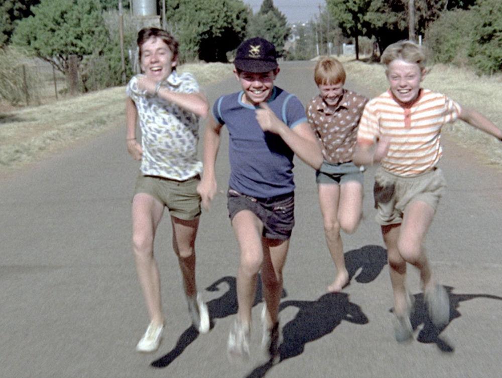 Trompie running with friends
