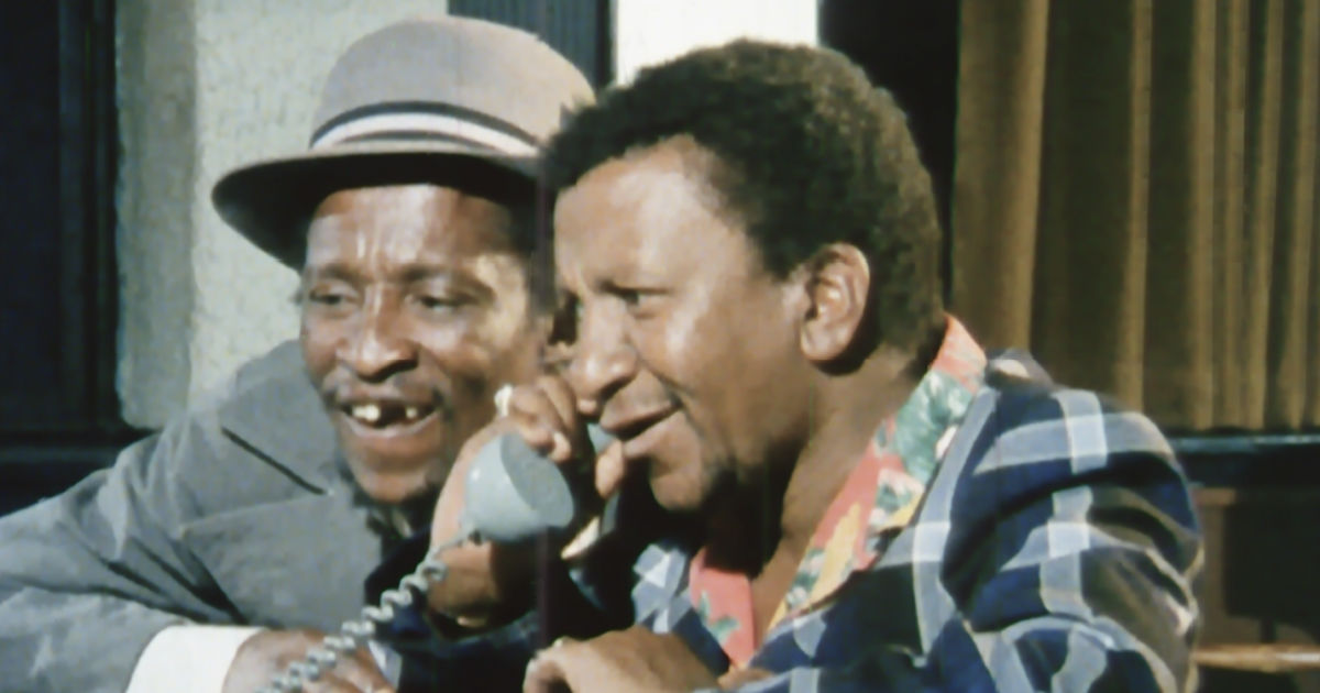 Upondo and Nkinsela making phone call