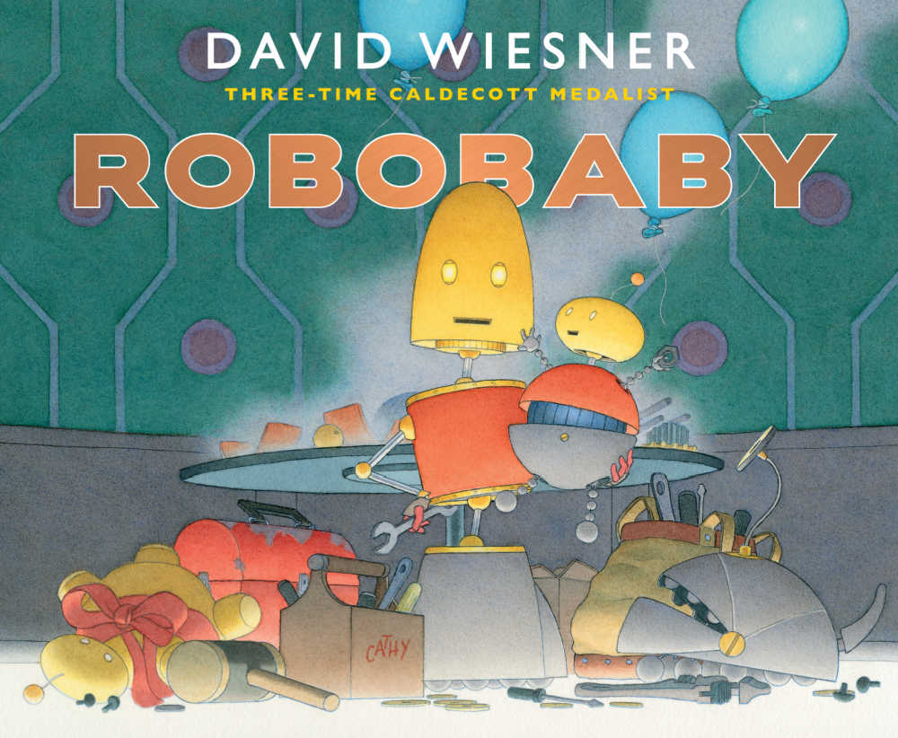 When a new baby is on the way, preschool and elementary school age kids will love the engaging new Robobaby book by David Wiesner.