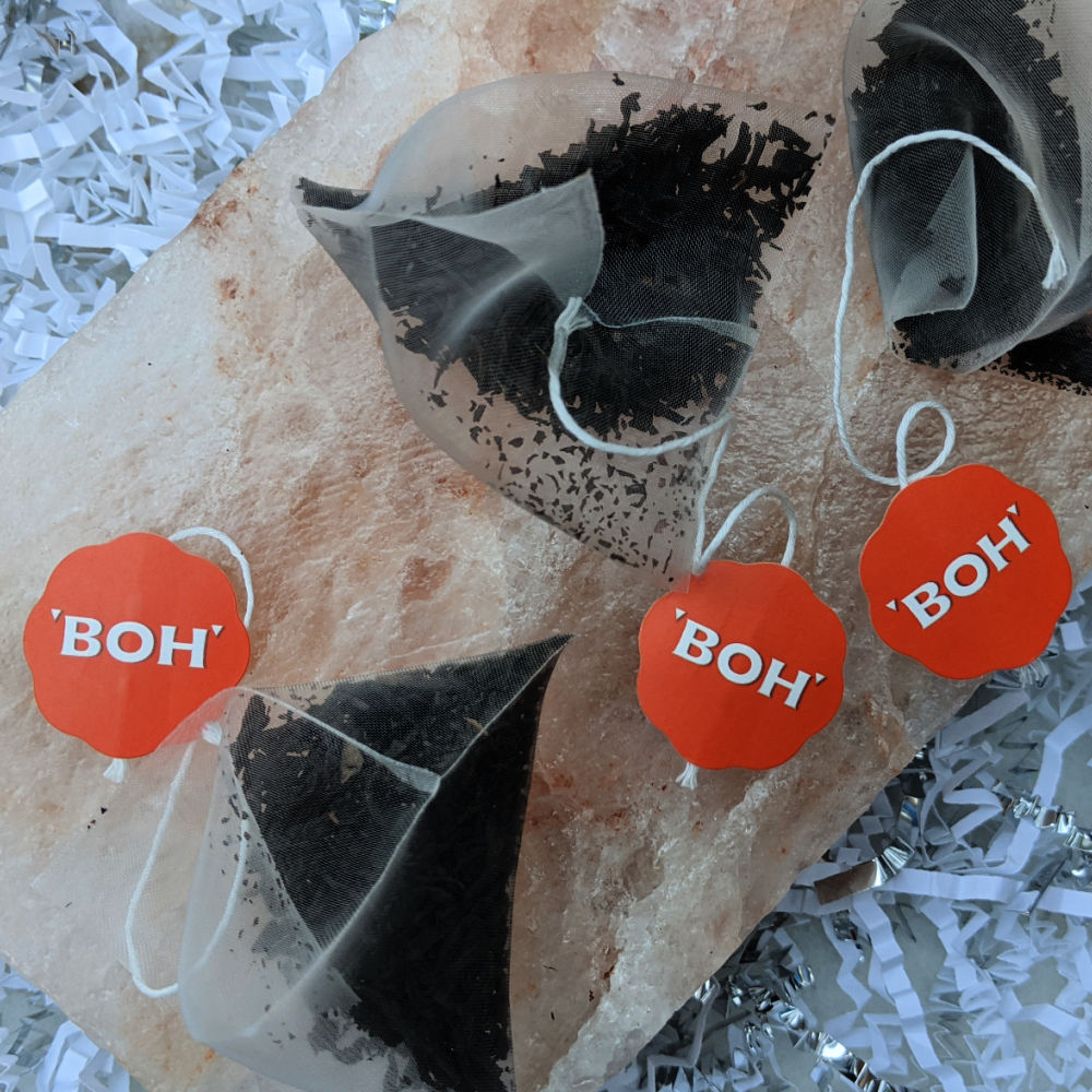 three boh tea bags