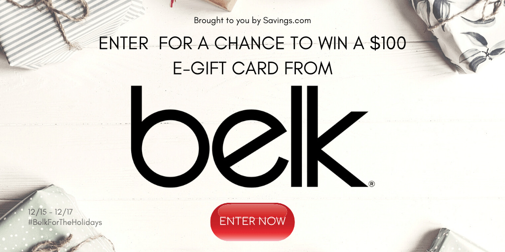 Enter the Belk gift card giveaway, so that you can have a chance to win one of five great prizes for the holidays.